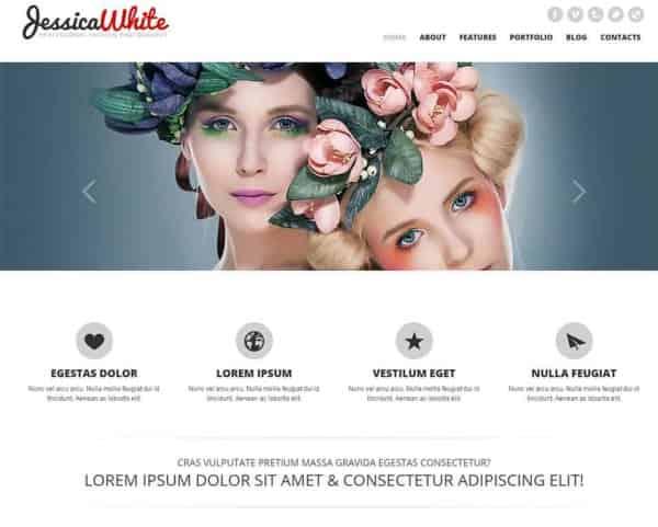 jessica white free bootstrap website min min