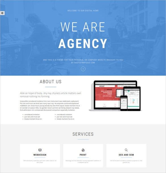 37 bootstrap gallery themes templates free premium for Bootstrap portfolio templates free