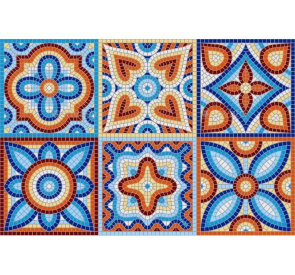 ancient mosaic ceramic tile pattern