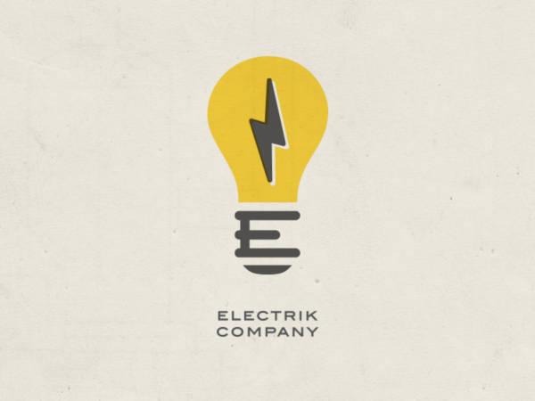 bulb company logo template