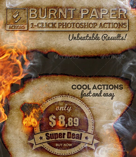 burnt paper fire effects photoshop