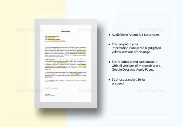 business memo format template1