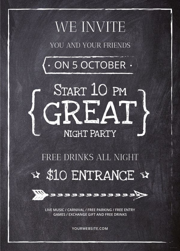 chalkboard-flyer-template
