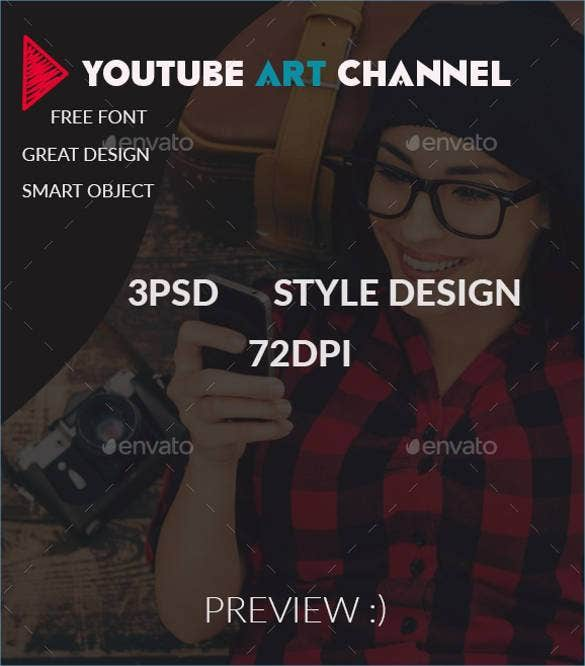 Youtube Channel Art Template 47 Free Psd Ai Vector Eps Format