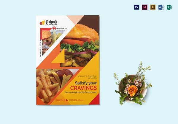 Fast Food Flyer Templates  Free Psd Ai Vector Eps Format