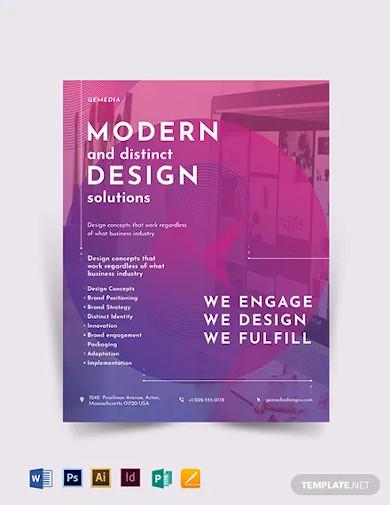 design company flyer template