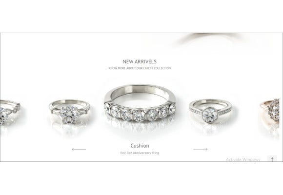 diamond jewelry html template