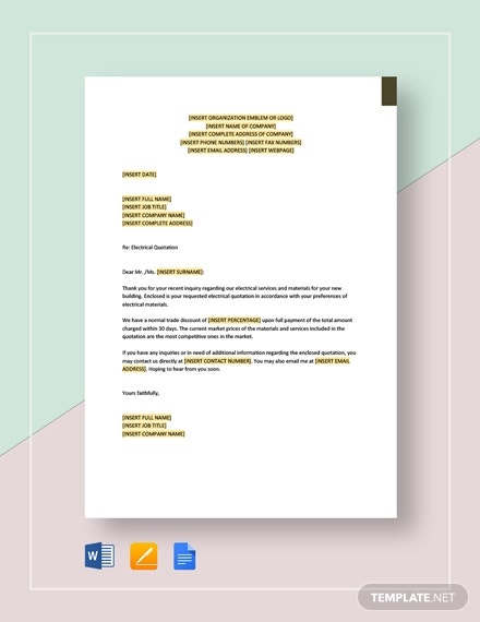 electrical quotation template1