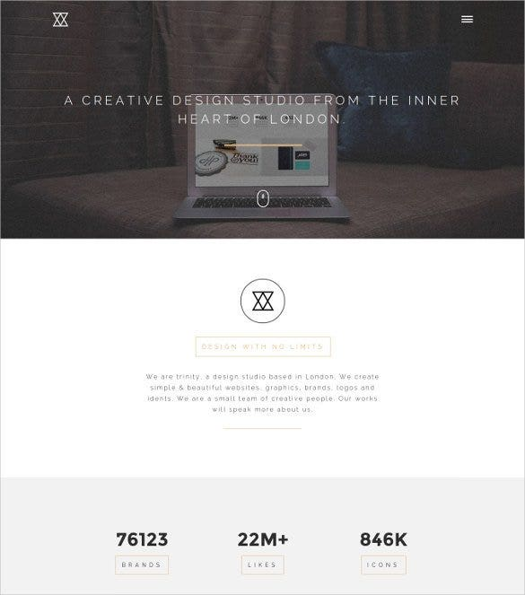 elegant one page bootstrap gallery template1