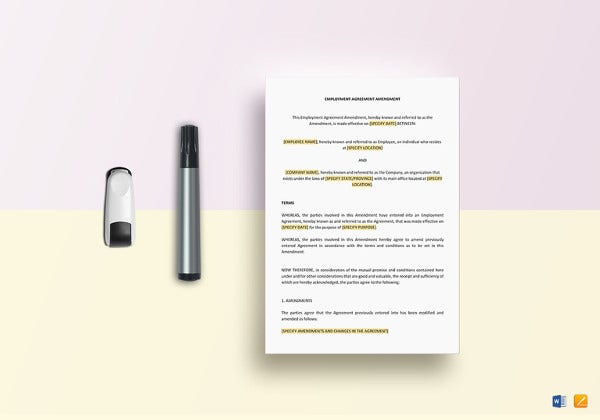 employment-agreement-amendment-template-to-edit