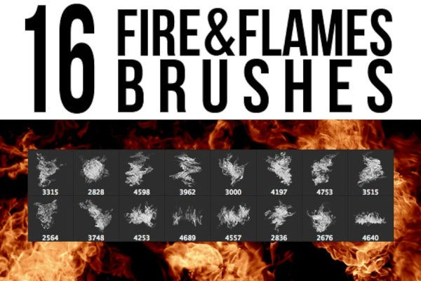 fire flames brushes