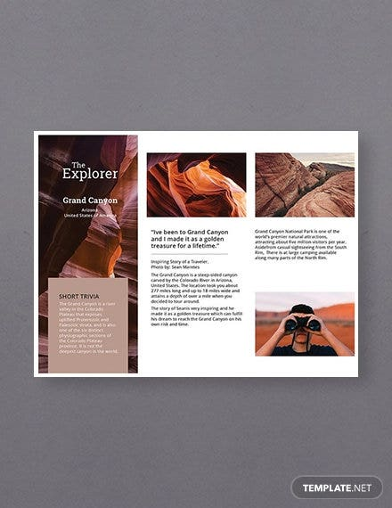 free a5 brochure template