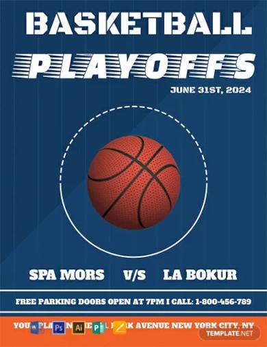 free basketball flyer template1
