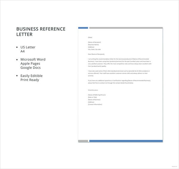 free business reference letter template details file format microsoft word apple pages google docs