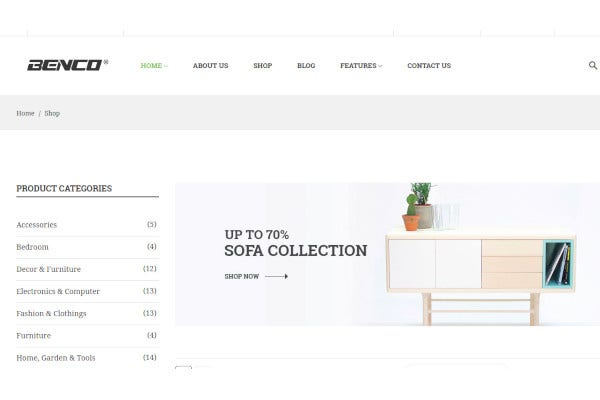 furniture bootstrap 4 html template