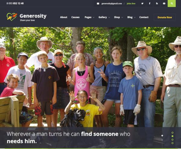 generosity nonprofit psd template