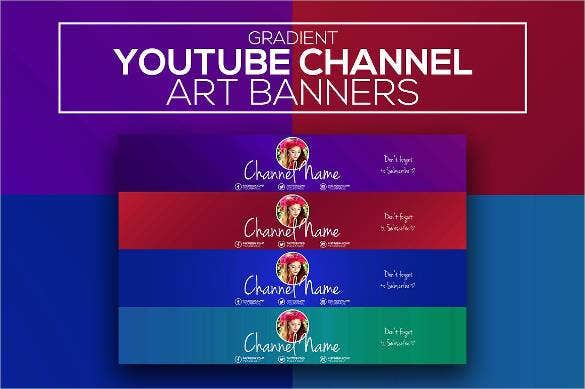 gradient youtube channel art banner1