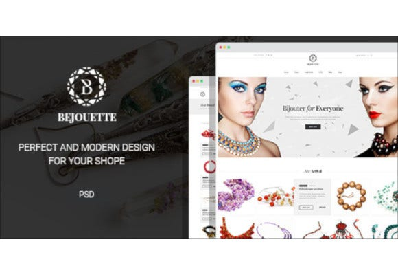handmade jewelry designer psd template