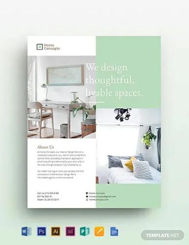 interior design flyer template2