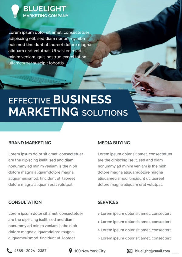 investment marketing datasheet template