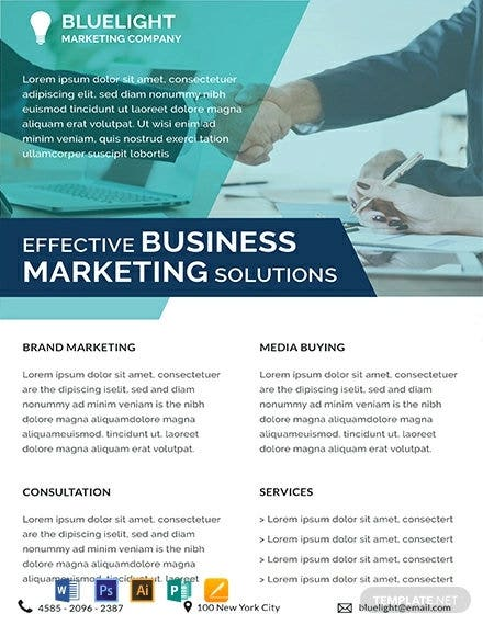 investment marketing datasheet template1
