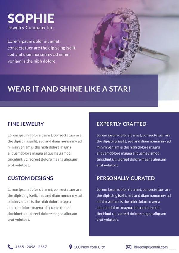 Jewelry Store Datasheet