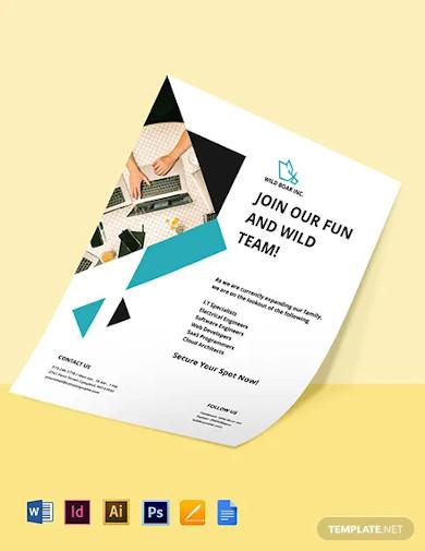 job announcement flyer template