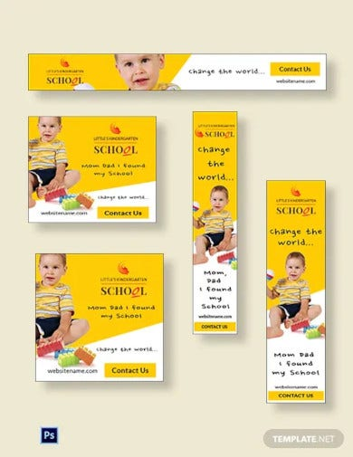 kindergarten ads banner template