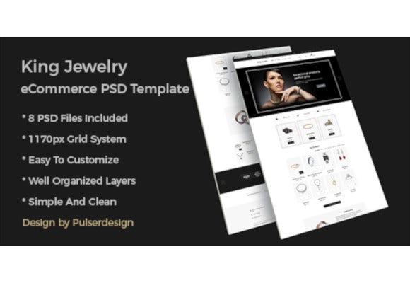 king jewelry ecommerce psd template