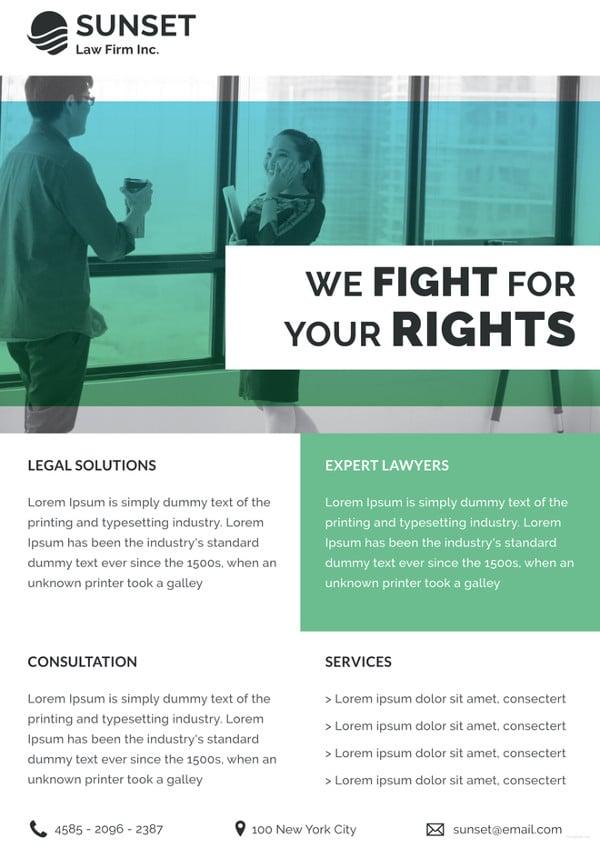 law firm datasheet template
