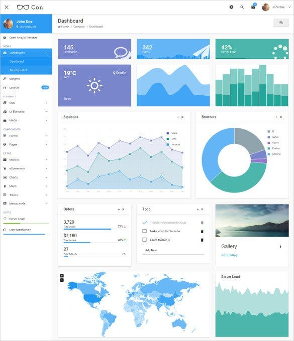 material admin dashboard bootstrap template1