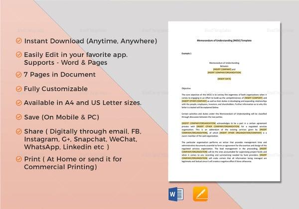 memorandum of understanding template1