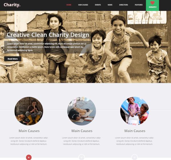 multi purpose nonprofit psd theme