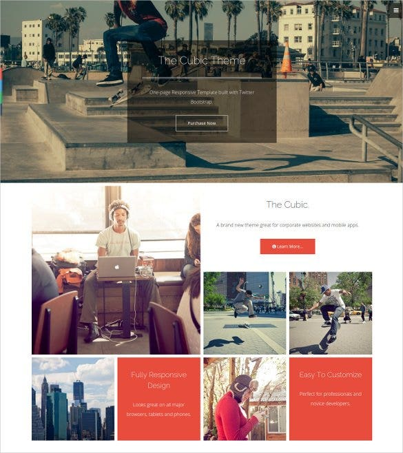 Multi Purpose One Page Bootstrap Gallery Template 16