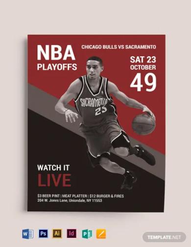 nba playoffs flyer template