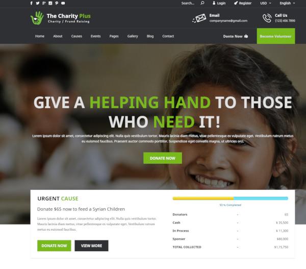 non profit organization psd template