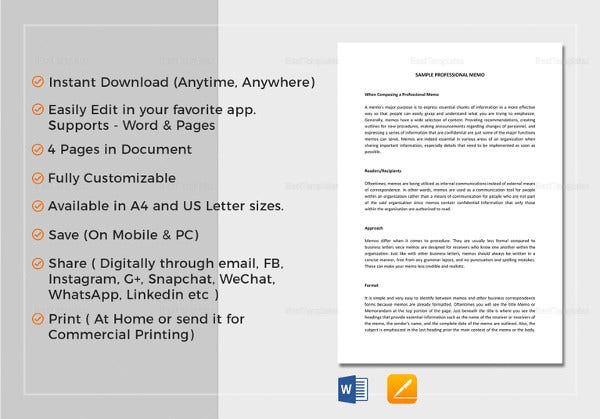 Interoffice Memo Templates - 28+ Free Sample, Example, Format | Free ...