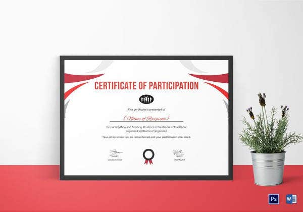 participation-certificate-for-running-template