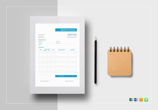 payroll timesheet word template