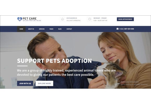 pet care responsive html5 template
