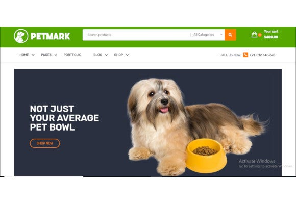 pet care veterinary bootstrap template