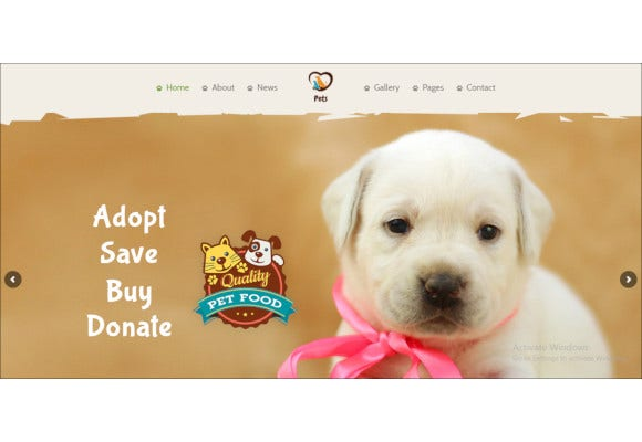 pet shop animal care wordpress theme