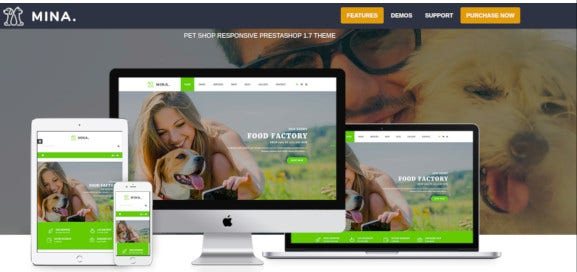 pet shop responsive prestashop