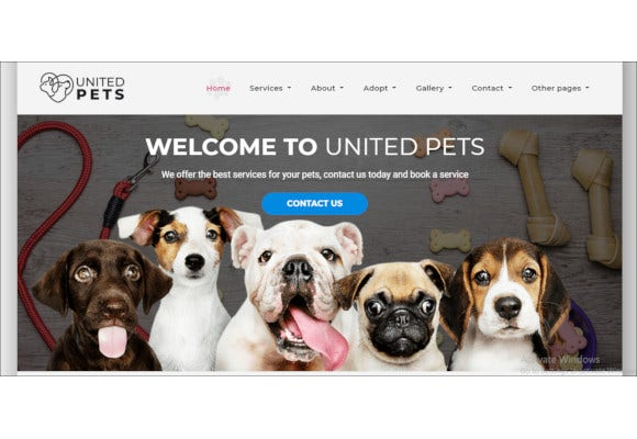 pets responsive html5 template