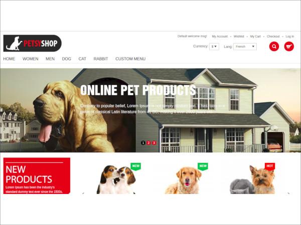 petsy shop responsive magento theme
