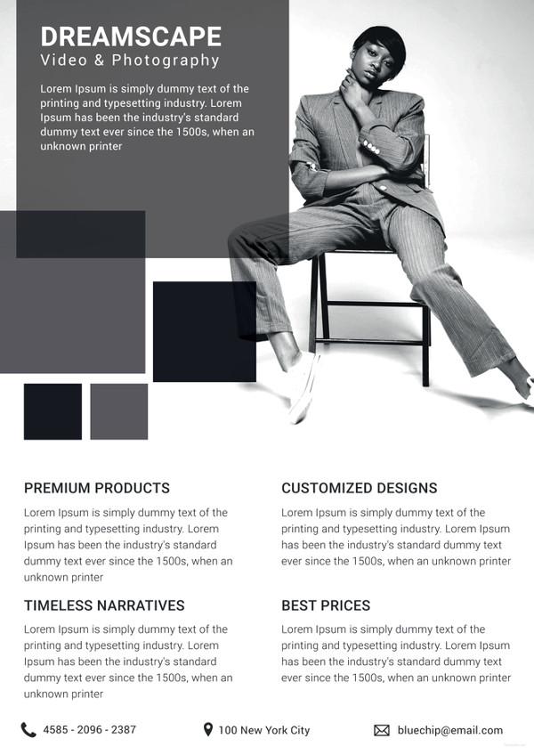 photography studio datasheet