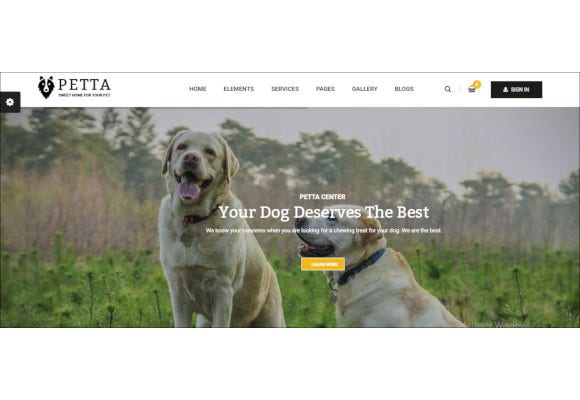premium pet care wordpress theme