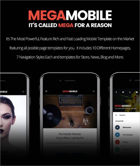 premium portfolio html mobile theme1
