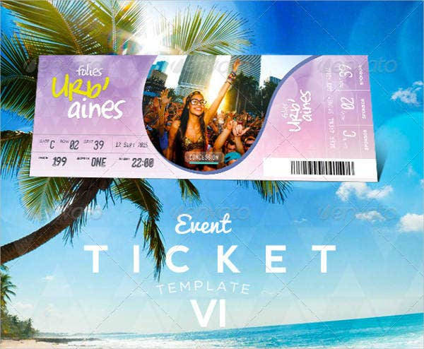38 printable ticket template free psd ai vector eps format