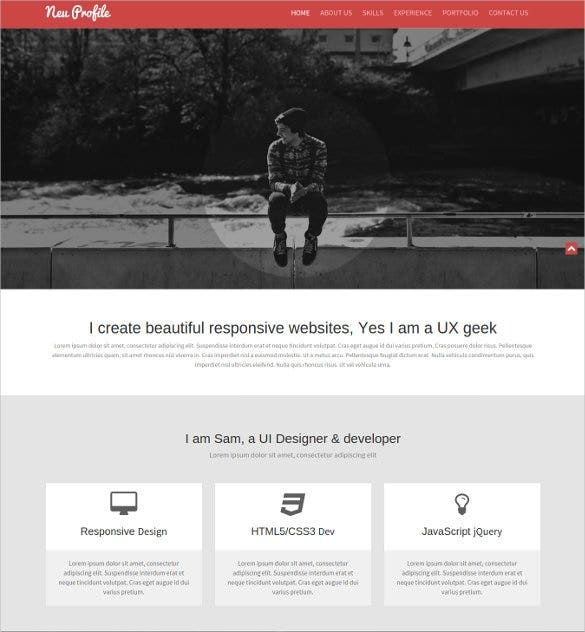 professional creative bootstrap galeery template1